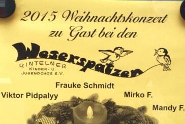Weihnachtskonzert der Weserspatzen am 13.12. im Brückentorsaal