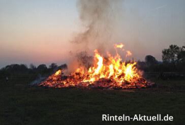 Wann brennt es wo? Liste der Osterfeuer in Rinteln 2016