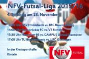 4. Spieltag der NFV-Futsal-Liga in Kreissporthalle Rinteln