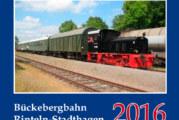 Bahnkalender 2016 bald erhältlich, Fahrtage von Schienenbus und Dampfeisenbahn