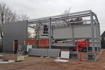 Feuerwehrhaus Todenmann: Bauarbeiten machen Fortschritte