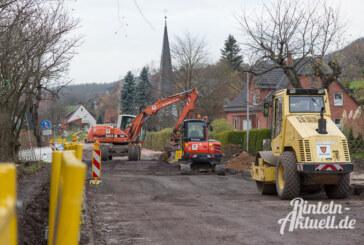 Neubau der Ortsdurchfahrt Todenmann: Ende der Vollsperrung vor Weihnachten geplant