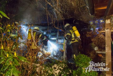 Krankenhagen: Feuer im Holzschuppen