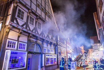 Einstweilige Unterbringung nach Wohnungsbrand in der Bäckerstraße