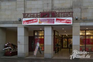 Schuh-Peters: Räumungsverkauf wegen Renovierung