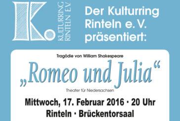 """Abgesagt!""""Romeo und Julia"""":  Die berühmteste Liebesgeschichte der Welt kommt nach Rinteln"""