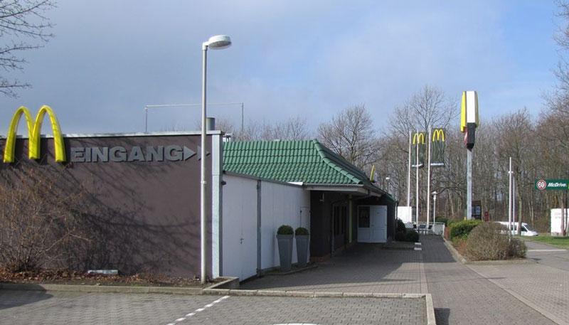 Heute vormittag ereignete sich ein Überfall auf das McDonalds-Restaurant in Porta Westfalica-Lerbeck (Foto: Polizei Minden/Lübbecke).