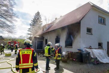 Hausbrand in Eisbergen: Familie in Sicherheit