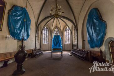 Altar in Plastikfolie: Sanierung in St. Nikolai-Kirche startet