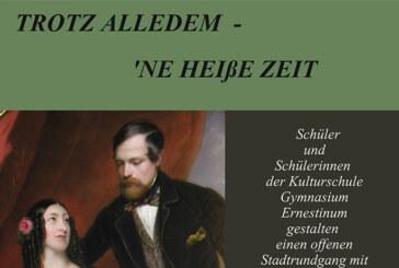 """""""Trotz alledem – `ne heiße Zeit!"""" – Stadtrundgang mit Spielszenen, Ausstellungen und Musik"""