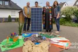 Schöpfung, Sonnenlicht und Solaranlage beim Comenius-Kindergarten