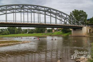 Polizei und DLRG üben Rettungseinsätze in der Weser