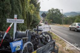 Zur Abschreckung: Zerstörtes Motorrad in Wennenkamp aufgestellt
