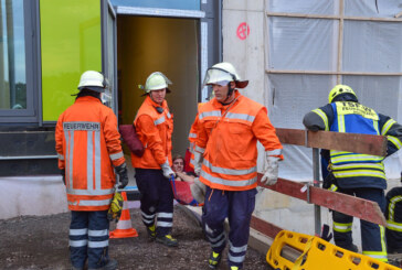 Erste Übung am neuen Klinikum Schaumburg in Vehlen