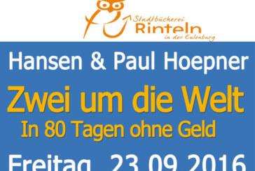 In 80 Tagen ohne Geld um die Welt: Hansen-Brüder kommen nach Rinteln