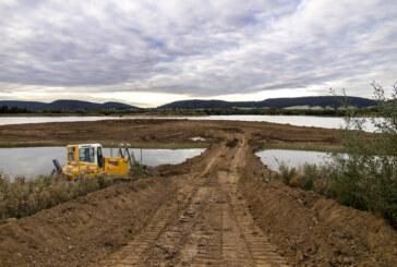 Umweltschutz mit Bagger vorangetrieben: AHE Schaumburger Weserkies sorgt für Lebensraumverbesserung in der Auenlandschaft