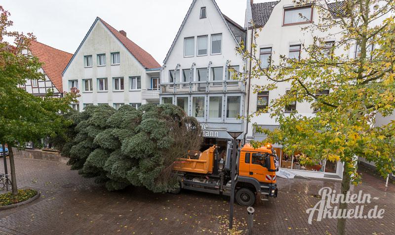 02-rintelnaktuell-tannenbaum-weihnachtsbaum-adventszauber-marktplatz-kran-2016-fest-schmuecken-lichterglanz