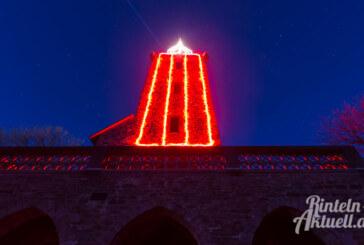Zukunftsweisend: Der Klippenturm leuchtet ab sofort mit LED-Technik