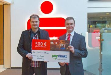 Sparkasse Schaumburg überreicht 500 Euro Einkaufsgeld von paydirekt
