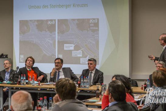 9 Monate Bauzeit, Vertragsstrafen, 2 Millionen Euro: Umbau der Steinberger Kreuzung