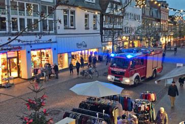 Feuerwehreinsatz in Rintelner Innenstadt