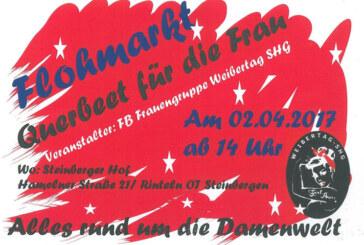 """Kleider, Schuhe und Schmuck beim Flohmarkt """"Querbeet für die Frau"""" am 2. April"""