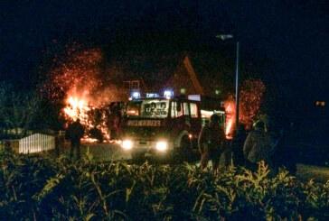 Rehren: Feuerwehreinsatz fünf Minuten nach Mitternacht