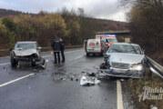 Schwerer Unfall auf B238 in Fahrtrichtung Steinbergen