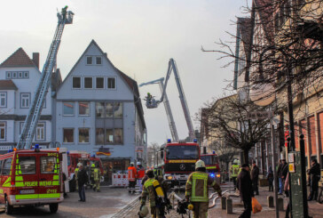160 Feuerwehrleute bei Brand am Marktplatz in Stadthagen im Einsatz
