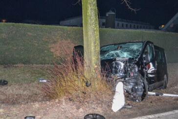 Rehren: Unter Alkoholeinfluss gegen Baum gefahren, drei Verletzte