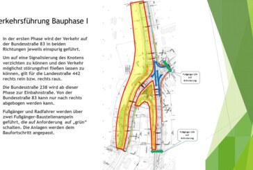 Steinberger Kreuzung: Umbau startet am 20. März, Bauphase Eins bis August
