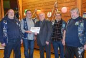"""Blaue Ritter mit großem Herz: """"Blue Knights"""" Motorradclub spendet 500 Euro an Lebenshilfe Rinteln"""