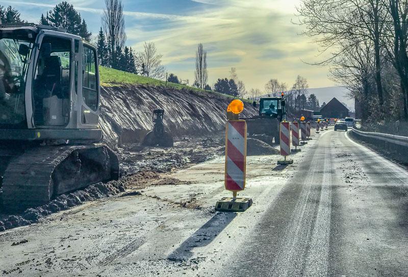 Großbaustelle in Steinbergen startet, Todenmann noch immer nicht fertig