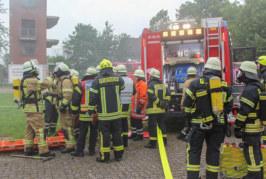"""""""Gasexplosion"""": Kreisfeuerwehrbereitschaft Nord probt den Ernstfall"""