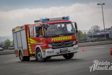 Feuerwehren im Grenzbereich: Fahrtraining auf dem WeserGold-Gelände