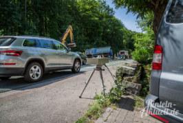 Viele zu schnell: Polizei misst Geschwindigkeit in der Baustelle Steinbergen