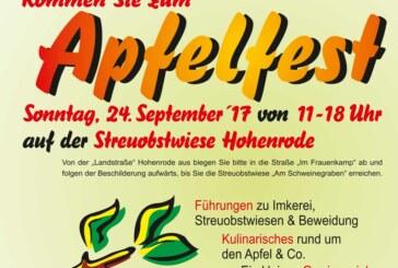 Lions Club und NABU Rinteln laden ein zum Apfelfest in Hohenrode