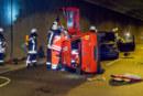 Feuerwehr übt den Ernstfall im Weserauentunnel