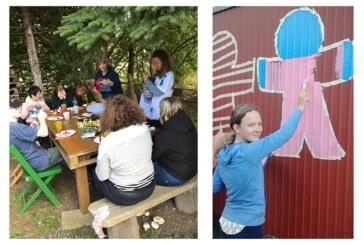 Kreative und aktive Teenager beim Kinderschutzbund-Projekt