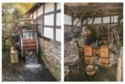 Exten: Wasserrad am Oberen Eisenhammer montiert