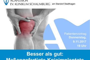 """Patientenvortrag im Krankenhaus: """"Besser als gut – maßangefertigte Knie-Implanate"""""""