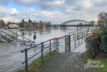 Hochwasser: Weser in Rinteln steuert auf Fünf-Meter-Marke zu