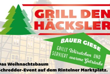 """""""Grill den Häcksler"""": Weihnachtsbaumschreddern auf dem Rintelner Marktplatz"""