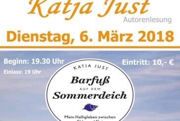 Barfuß auf dem Sommerdeich: Bestsellerautorin Katja Just liest in Stadtbücherei Rinteln
