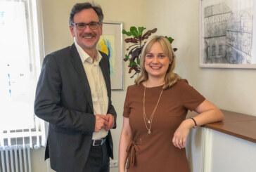 Bundestagsabgeordnete Marja-Liisa Völlers zu Besuch bei Bürgermeister Thomas Priemer