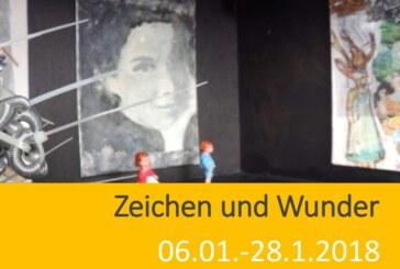 Zeichen und Wunder: Neue Ausstellung in der Alten Druckerei