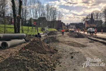 Steinbergen: Fertigstellung der Baustelle vor Ostern geplant