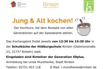"""""""Jung & Alt kochen!"""" – Termine fürs 2. Schulhalbjahr"""