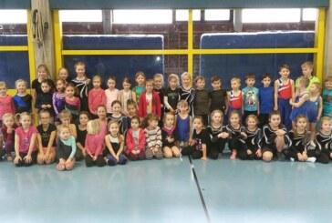 60 Kinder beim 38. Kinderturnabzeichen in der Kreissporthalle