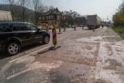 Steinbergen: Neue Betonfahrbahn hat Risse / Reparatur erforderlich